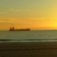 Coucher de soleil sur L'atlantique.