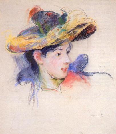 Berthe-Morisot-Jeanne-Pontillon-Wearing-a-Hat