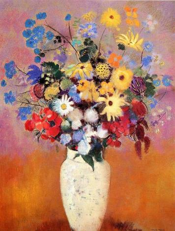 Odilon-Redon-White-Vase-with-Flowers