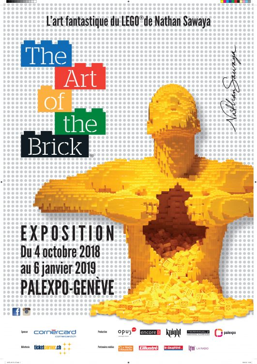 Affiche expo Art of the bricks Geneve 1 26oct18