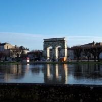 La Charente qui déborde à Saintes.